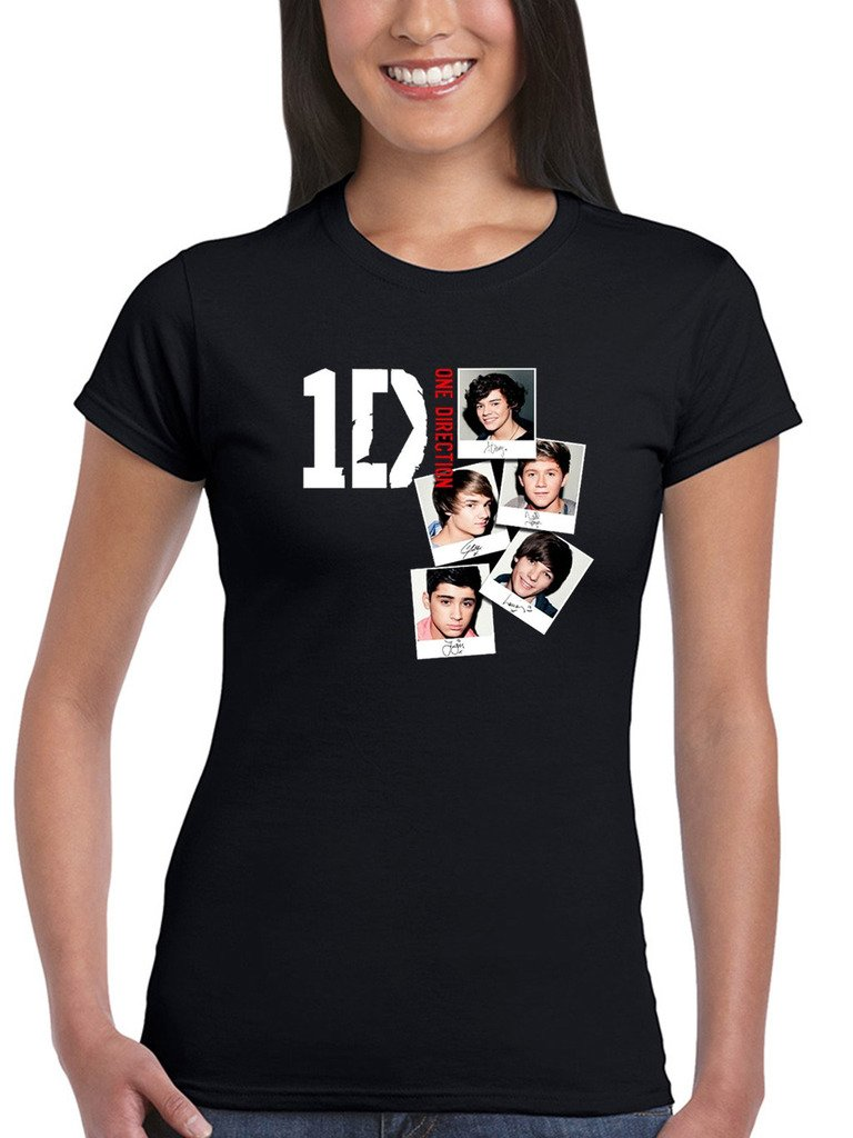 One Direction Photo Stack Tshirt I Love 1d Teen Pop Music Harry Styles