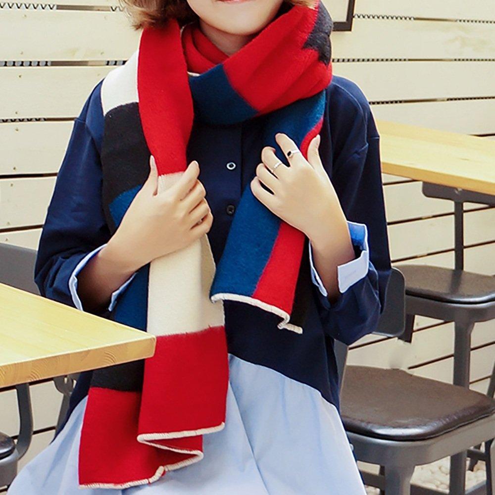 LJHA Sciarpe delle donne sciarpe di inverno e di inverno caldo sciarpe sciarpe delle sciarpe delle sciarpe di inverno di grande sciarpa uso doppio (formato: 190 * 55cm) ( Colore : A , dimensioni : 190*55CM )