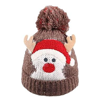 BESTOYARD Navidad Lindo Ciervo Gorras bebé Invierno Punto ...