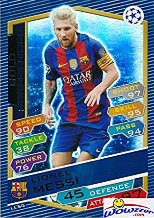 708c0e5a89a 2016 2017 Topps Match Attax Champions League EXCLUSIVE Lionel Messi Limited  Edition GOLD Card!