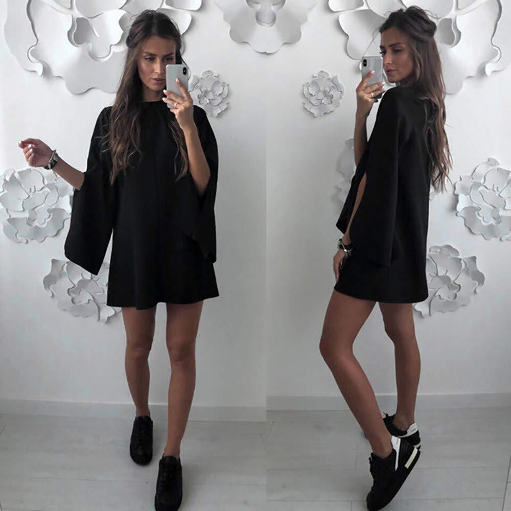✿✿ Amlaiworld Elegant locker Sommer Abendkleider Damen Rundhals Kleid Elegant Mini Dress Bequeme Party Kleider