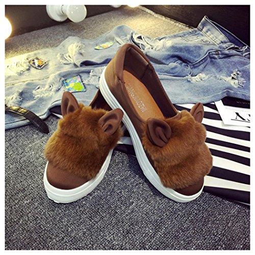 de à Vert ville pour lacets kaki Chaussures femme Fuibo aqWS5wnAzT