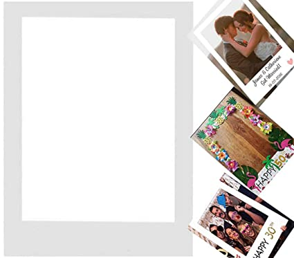 Rzctukltd DIY Photo Booth Props Blank Picture Frame Background Birthday  Wedding Hen Party