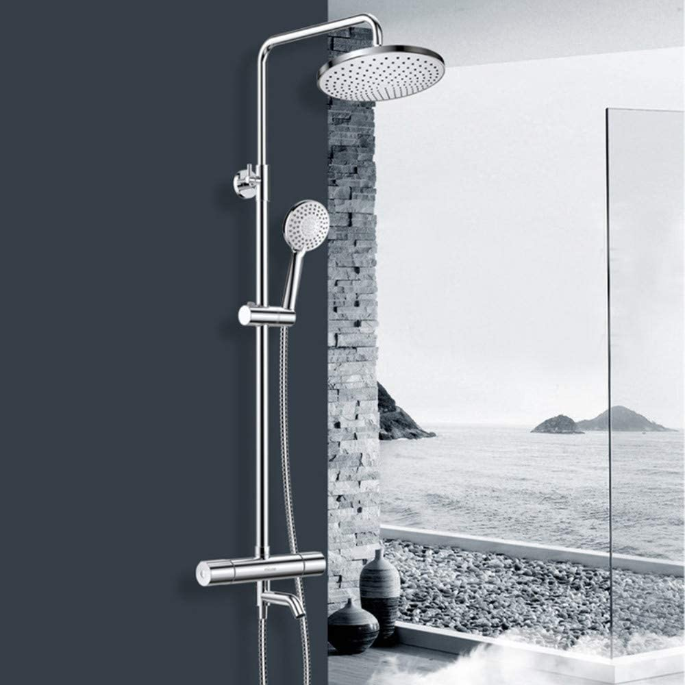 Bathroom Rain Mixer Shower Set Thermostatic Rainfall Head 10 inch