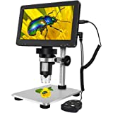 ANNLOV 7 inch LCD Digital Microscope 50-1000X USB Maginfication Handheld Electronic 12MP Coin Microscope Video Camera…