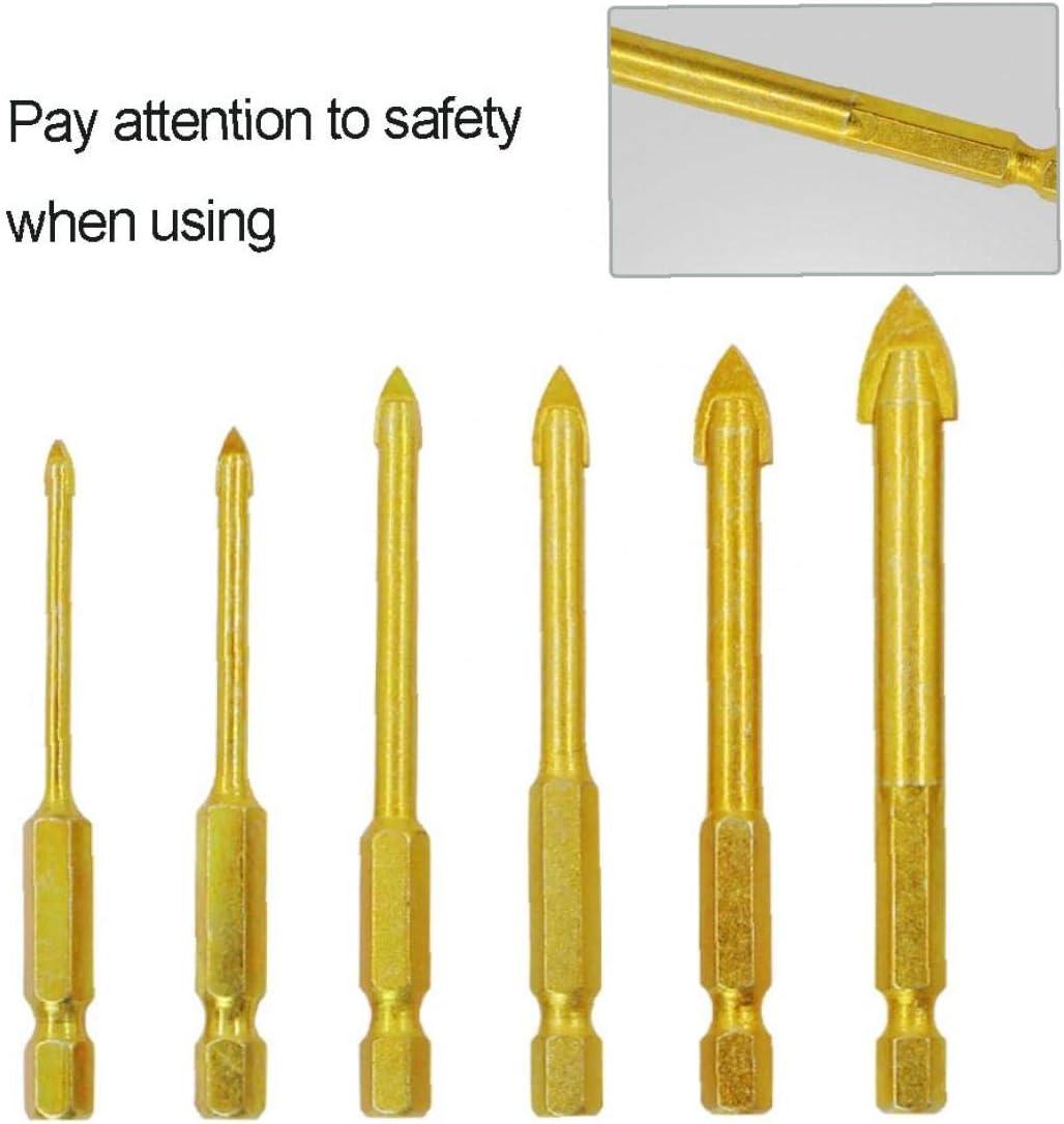 JPXyDfxn 6pcs 3-10mm M/èches Set Cut M/èche Pour Carreaux De Verre Miroir En C/éramique Porcelaine Marbletile Drill Outils Brique