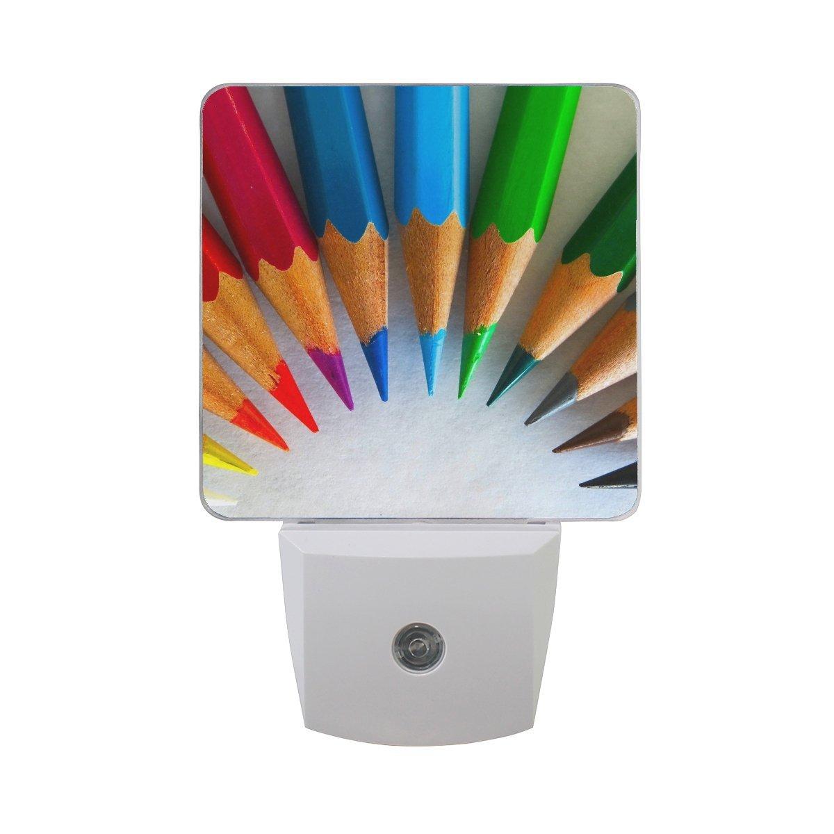 Colored Pencils SharpenedレインボーLED夜間ライトDusk to Dawnセンサープラグin Night Home Decorデスクランプfor Adult B07BQQRR6V 14960