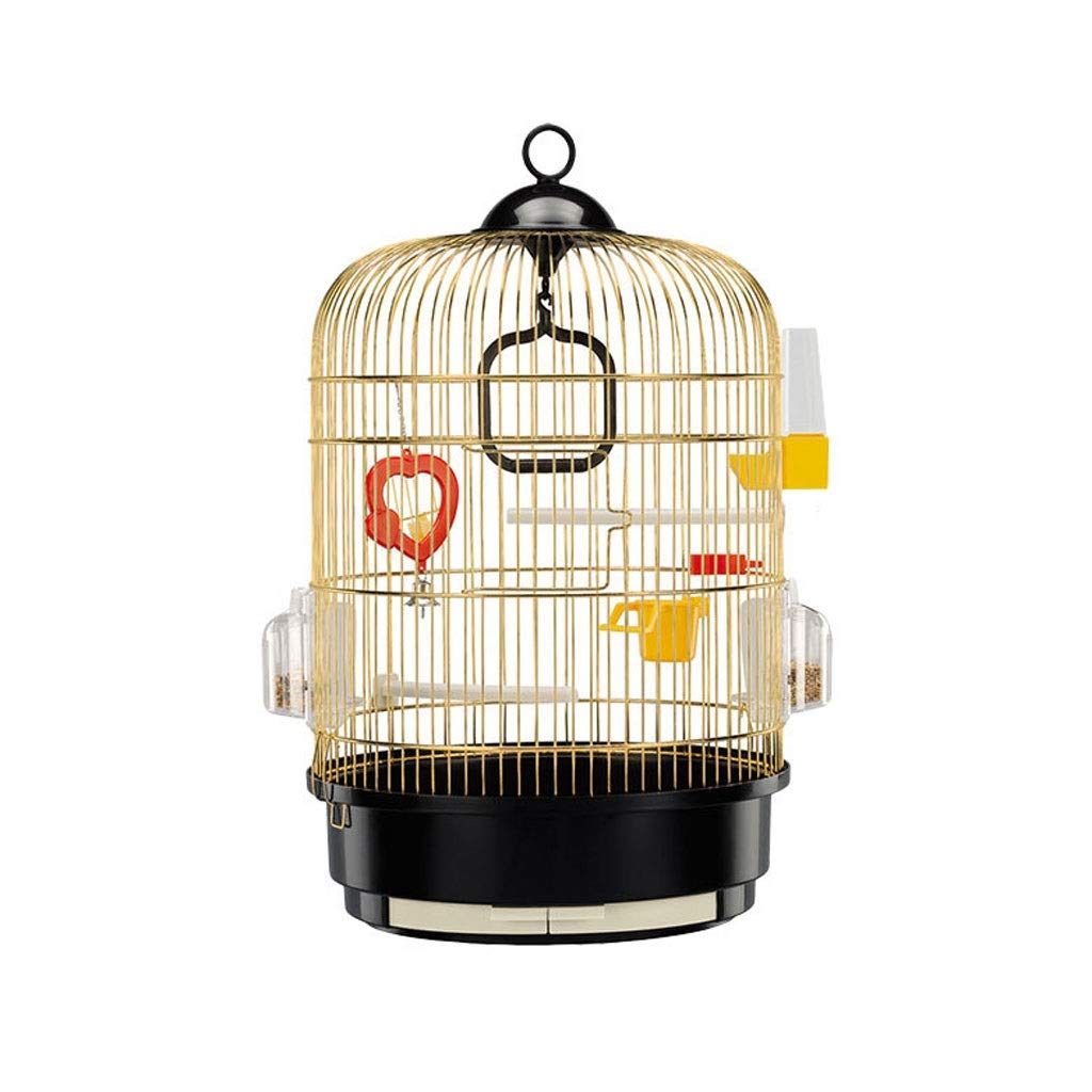 S Xilinshop-Birdhouses Oversized Parred Cage Stainless Steel Deluxe Bird Villa Exterior Simple And Stylish High-end Bird Cage (Size   S)