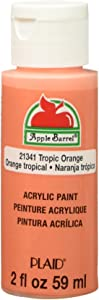 Apple Barrel Acrylic Paint in Assorted Colors (2 Ounce), E Matte Tropic Orange