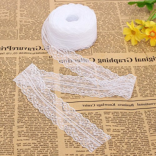 KINGSO Yards White Embroidered Ribbon