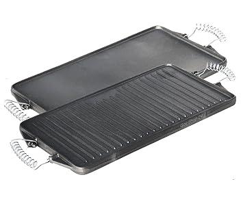 Grillplatte Für Gasgrill : Cm grillplatte aus gusseisen mit abnehmbaren