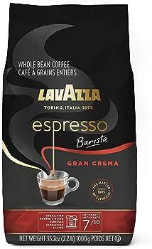 Lavazza Gran Crema Whole Bean Espresso Roast 2.2-Pound Coffee Blend