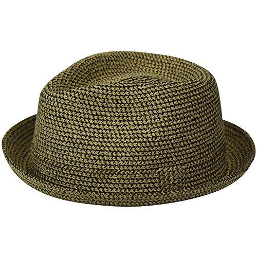 Country Gentleman Mens Joey Snap Brim Braided Fedora Hat