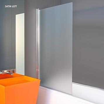 1400 x 800 mm SATIN Badewanne Glasteiler Glas Badezimmer Schirm ...