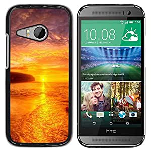 "For HTC ONE MINI 2 / M8 MINI , S-type Puesta de sol Mar Beautiful Nature 21"" - Arte & diseño plástico duro Fundas Cover Cubre Hard Case Cover"