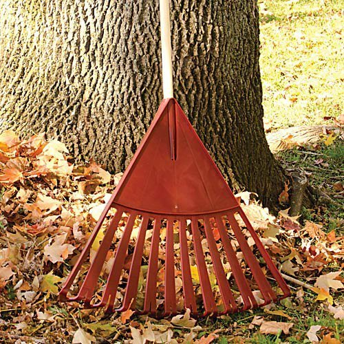 Ames True Temper Clog-free Poly Leaf Rake - 24 Inches Wide, 48 Inch Handle by ''Ames''
