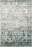 Area Rug Vintage Blue 7′ x 10′ FT St. John Collection Rugs – Inspired Overdyed Carpet Review