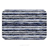 Flannel Microfiber Non-slip Rubber Backing Soft Absorbent Doormat Mat Rug Carpet Abstract Noisy Striped Space Dye Distressed Background Seamless Pattern 370450082 for Indoor/Outdoor/Bathroom/Kitchen/W