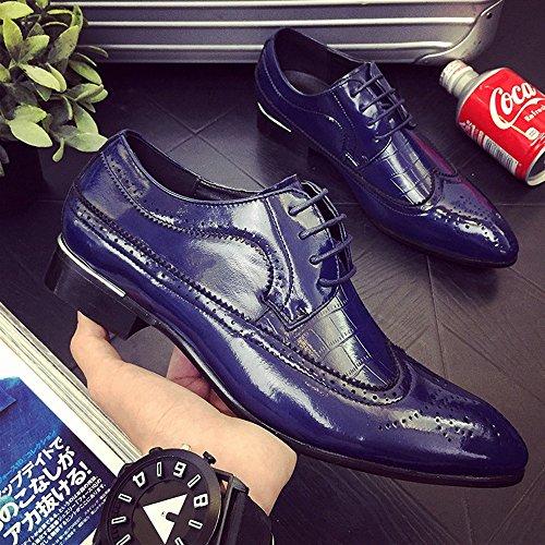 De Zapatos Azul Eu 2018 Rojo 37 Tamaño Hombre Wingtip Clásico shoes Hueco Lace color Up Empalme Forrados Cuero Pu Brogue Talla Respirables Oxfords Hombre Fang FSIxEwqW