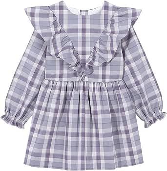 Gocco Vestido Cuadros Popelín Gris Dress para Niñas
