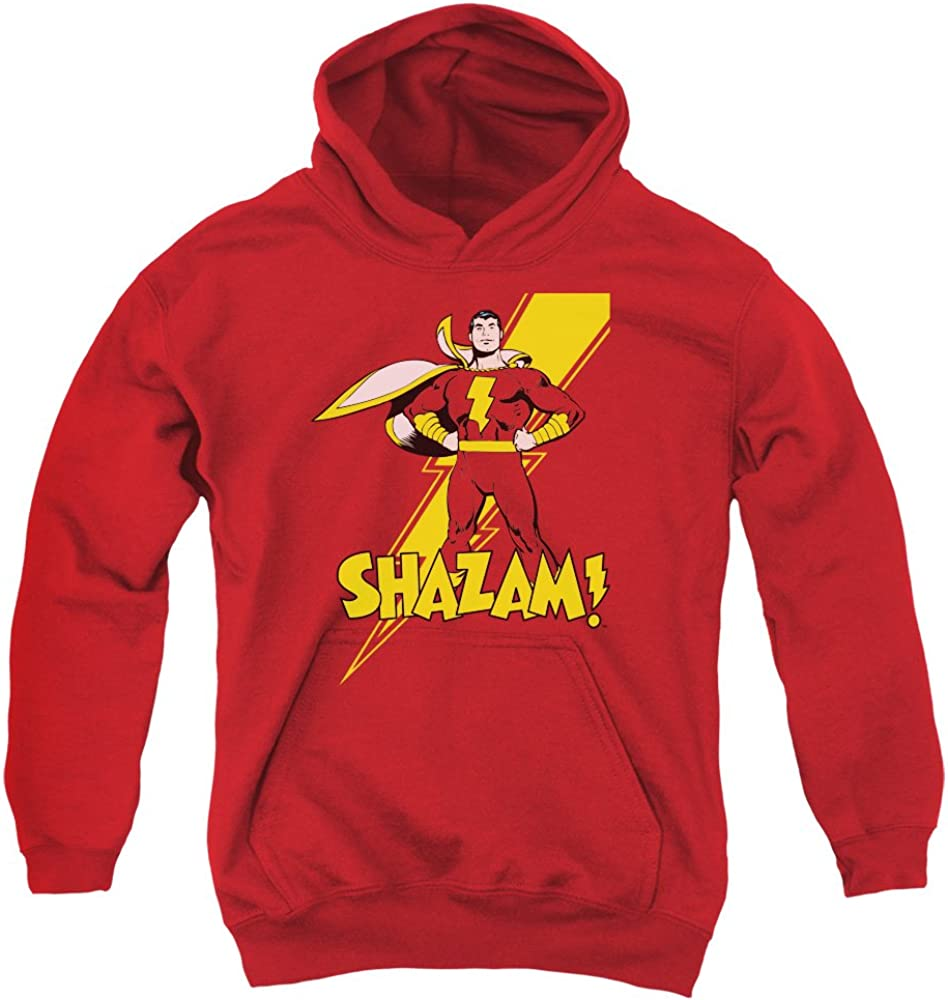DC Comics Shazam Lightning Pose Superhero Big Boys Youth Hoodie
