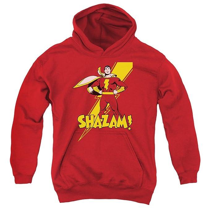 DC - Dc - Shazam para jóvenes! Sudadera con capucha, X-Large, Red: Amazon.es: Ropa y accesorios