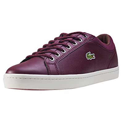 Lacoste Straightset SP 317 Mens Trainers Burgundy - 10 UK