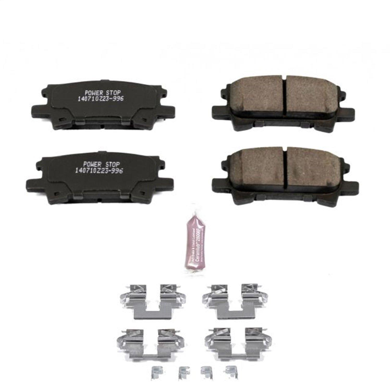 Power Stop Z23-996, Z23 Evolution Sport Carbon-Fiber Ceramic Rear Brake Pads by POWERSTOP