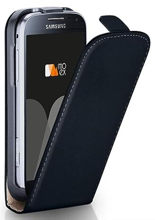 moex Samsung Galaxy S4 Mini   Hülle Schwarz 360° Klapp-Hülle Etui Thin Handytasche Dünn Handyhülle für Samsung Galaxy S4 Mini