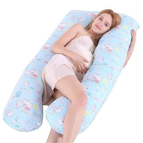 Cojín de embarazo en forma de U para dormir de lado, cojín ...