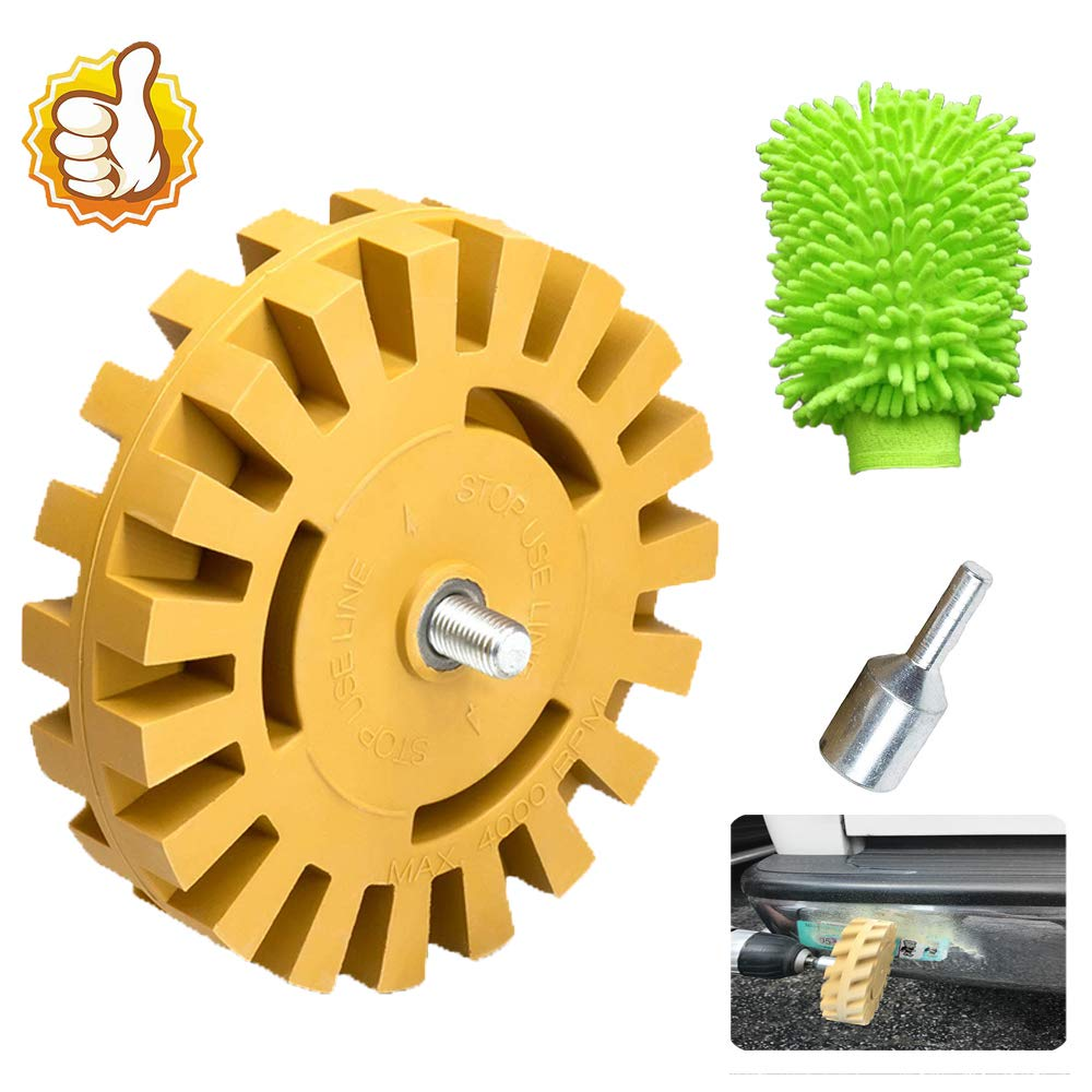 YIKUSO Wheel Car Decal Remover with Drill Adapter Kit