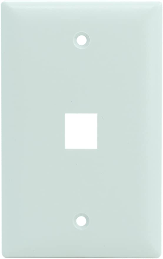 White On-Q WP3301WH10 1 Port Contractor Oversized Wall Plate Legrand Pack of 10