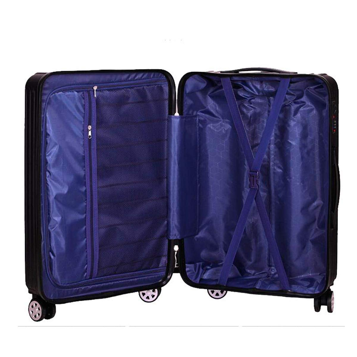 Color : Silver, Size : 26 20//22//24 inch Carry-on Luggage Bahaowenjuguan Hard Spinning Suitcase Best Gift Travel Organizer Black Trolley case