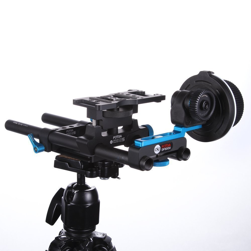 Fotga DP500IIS Quick Release 15mm Rail Rod Cheese Baseplate Rig + DP3000 M1 Follow Focus for DSLR Cameras Video Camcorders