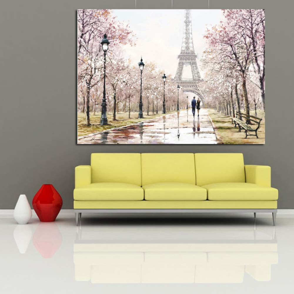 tzxdbh Ciudad romántica Pareja París Torre Eiffel Paisaje ...