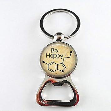Be Happy - Abrebotellas de molécula de serotonina, molécula ...