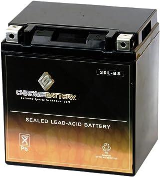 Amazon.com: Chrome Battery YTX30L-BS High Performance ...