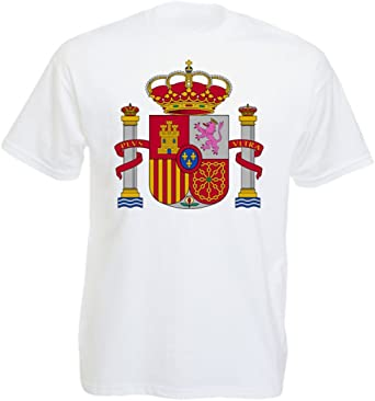 Aprom-Sports Camiseta para Hombre con Escudo de España: Amazon.es: Ropa y accesorios
