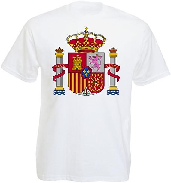 Aprom-Sports Camiseta para Hombre con Escudo de España: Amazon.es ...