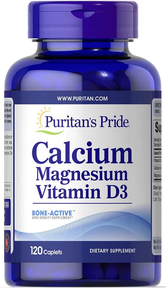 Puritan's Pride Calcium Magnesium Vitamin D3-120 Caplets