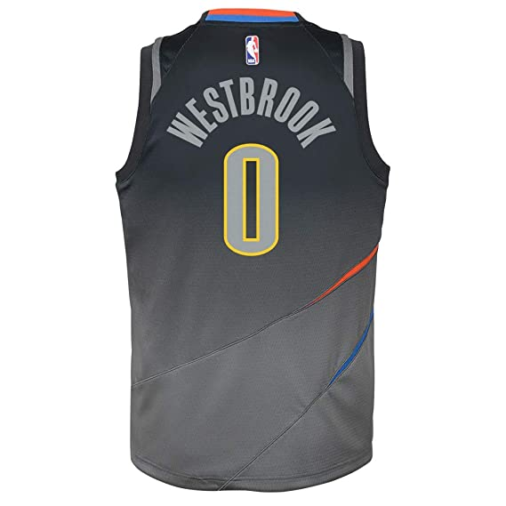 Nike NBA Oklahoma City Thunder Russell Westbrook 0 2017 2018 City Edition Jersey Official, Camiseta de Niño: Amazon.es: Ropa y accesorios