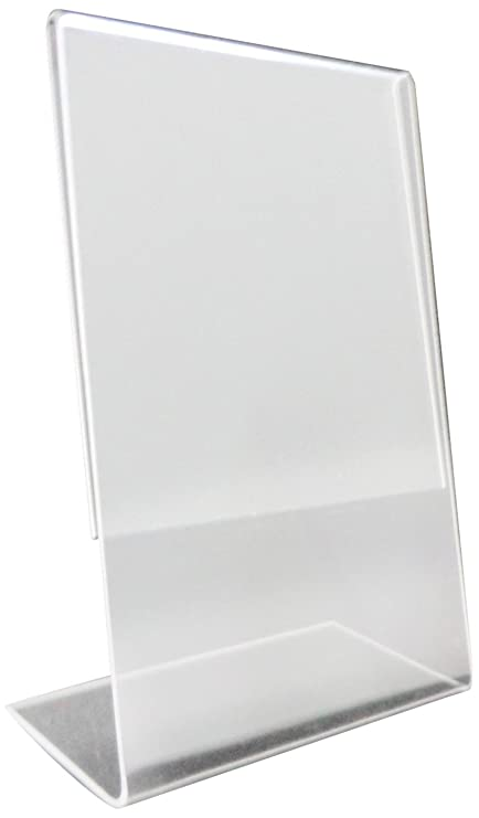 Amazon.com : Source One 8.5 x 11 Inches Slant Back Clear Styrene ...