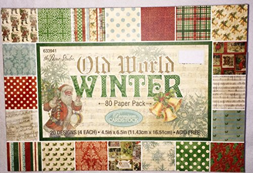 Old World Winter Christmas Scrapbooking Paper Pack 4.5x6.5, 80 ()