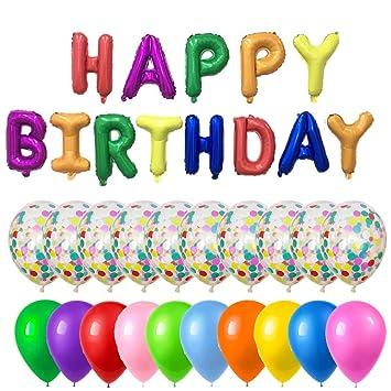 Amazon.com: PartyMart - Globo de cumpleaños con globos de ...