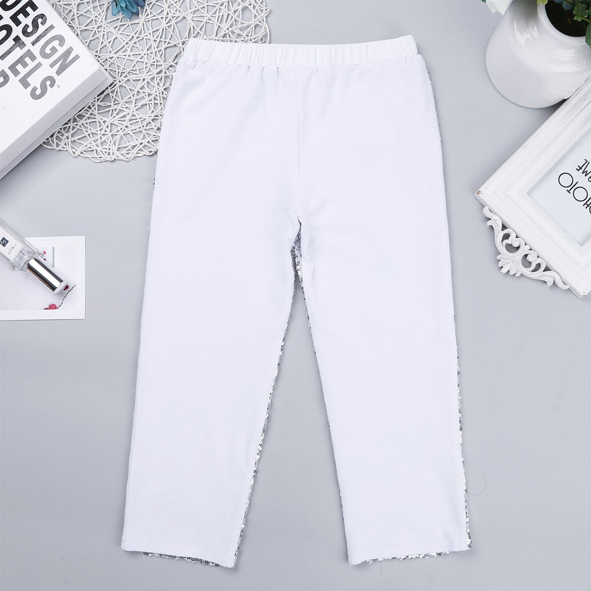 Agoky Toddler Girls Sequins Long Pants Leggings Kids Sparkles Trouser Birthday Fancy Party Dancing Clothes