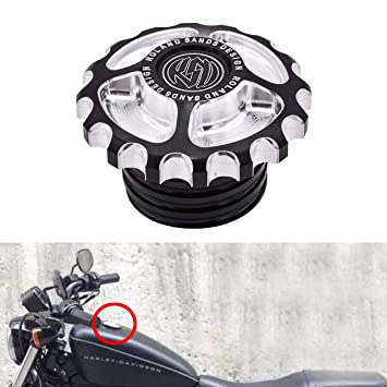 NATGIC 1 pieza de depósito de combustible CNC para motocicleta Harley Davidson Sportster XL 1200 883 X48 Dyna Softail FXD FL XL FLT Touring Road King: ...