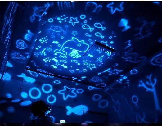 6 Juegos de Temas KOBWA Universe Star cumplea/ños Bonito Regalo para ni/ños Universo Cielo Estrellado oc/éano constelaci/ón Luna Proyector de luz Nocturna para ni/ños