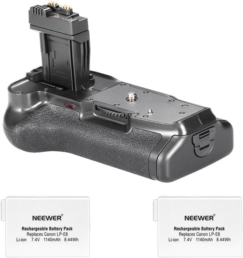 Agarre de batería para cámara Digital Canon EOS 550D 600D / Rebel T2i T3i SLR + 2 baterías compatibles con Canon LP-E8: Amazon.es: Electrónica