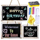 3 Pcs 3 Size Hanging Chalkboard Signs Rustic FramedVintage Decorative Wooden Chalkboard Signs Farmhouse Wedding Door Chalkboard Signs Menu Memo Board WallBlackboard for Back to School Birthday Party