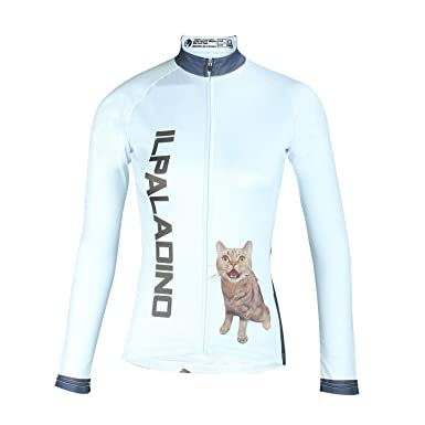 ILPALADINO Womens Cycling Shirt Long Sleeve Mountain Bike Jersey Quick Dry  Bicycle Clothing with Pockets Cat aff475a2c